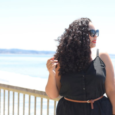 Tanesha Awasthi (formerly known as Girl With Curves) shows off her natural curls in Capitola.