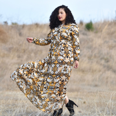 Tanesha Awasthi, also known as Girl With Curves, shares a round-up of plus size long sleeve maxi dresses for Fall 2016.