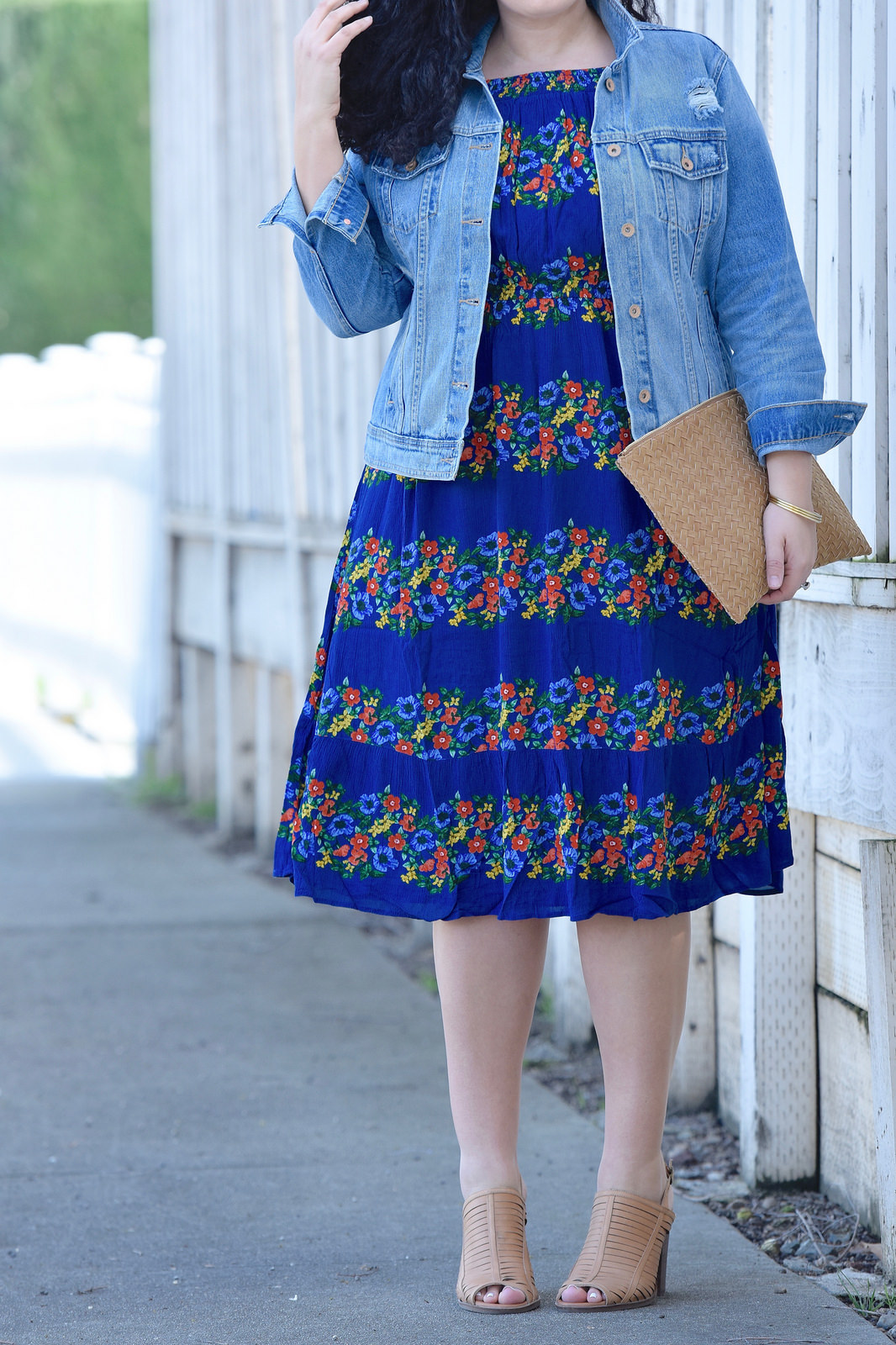 Florals Dress from Old Navy via @GirlwithCurves
