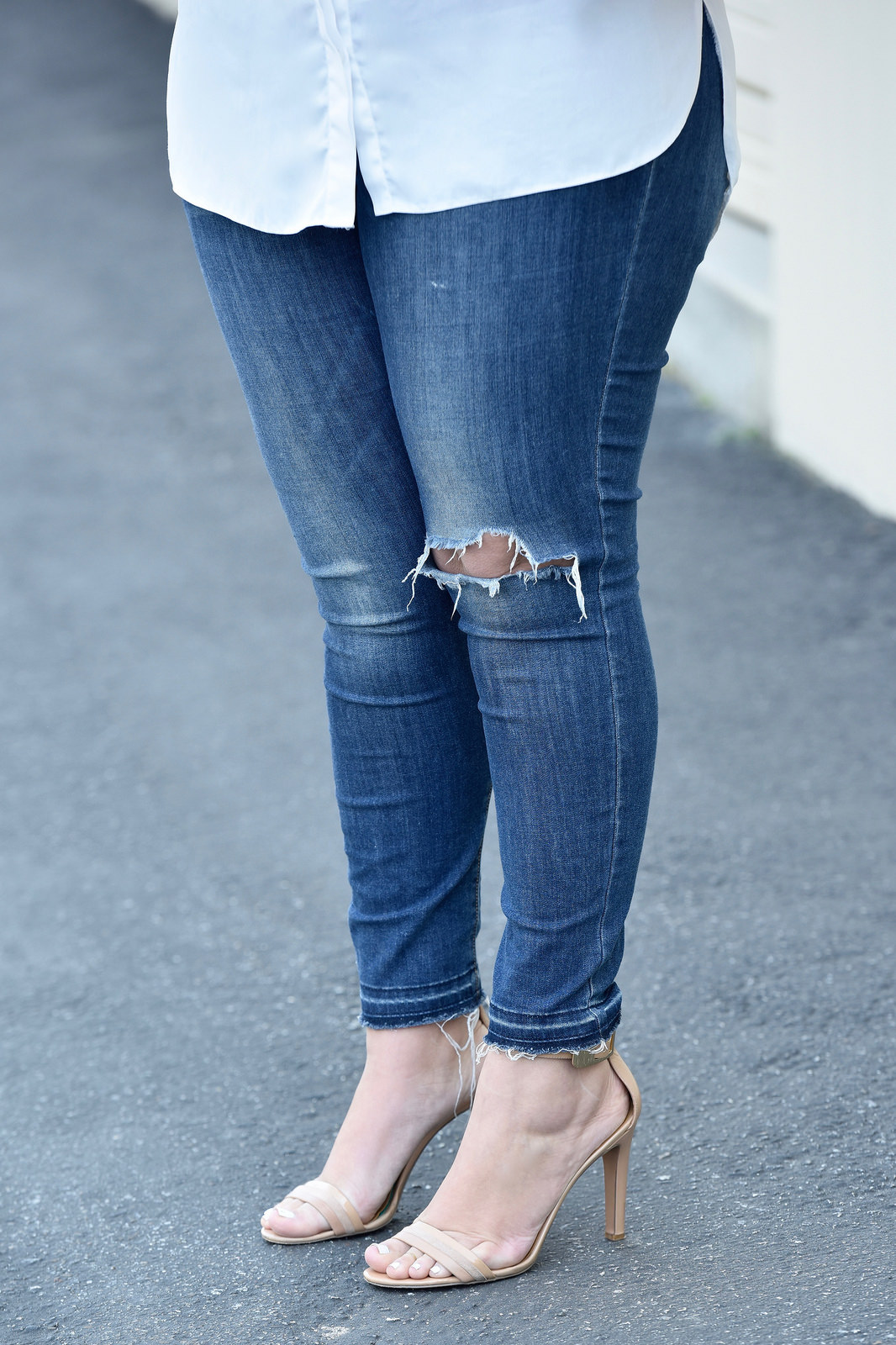 Distressed jeans from Old Navy via Girl With Curves.