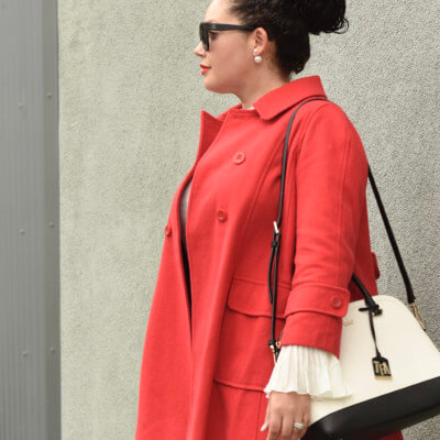 The Easiest Way To Wear The Color Of The Season Via @GirlWithCurves #red #holiday #winter #trends