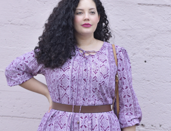 Spring Must Have Mixed Print Dress Via @GirlWithCurves #fashion #style #outfits