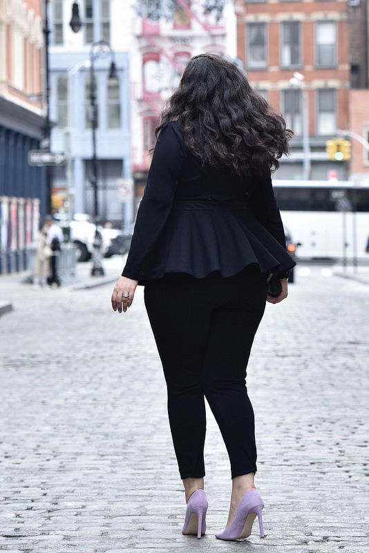 The Most Flattering Power Suit via @GirlWithCurves #GirlWithCurvesCollection #officewear #ootd #plussize #plussizefashion #plussizestyle