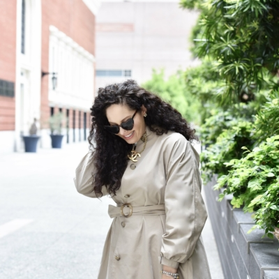 This Trench Is The Ultimate Wardrobe Essential Via @GirlWithCurves #outfits #style #trench #fashion