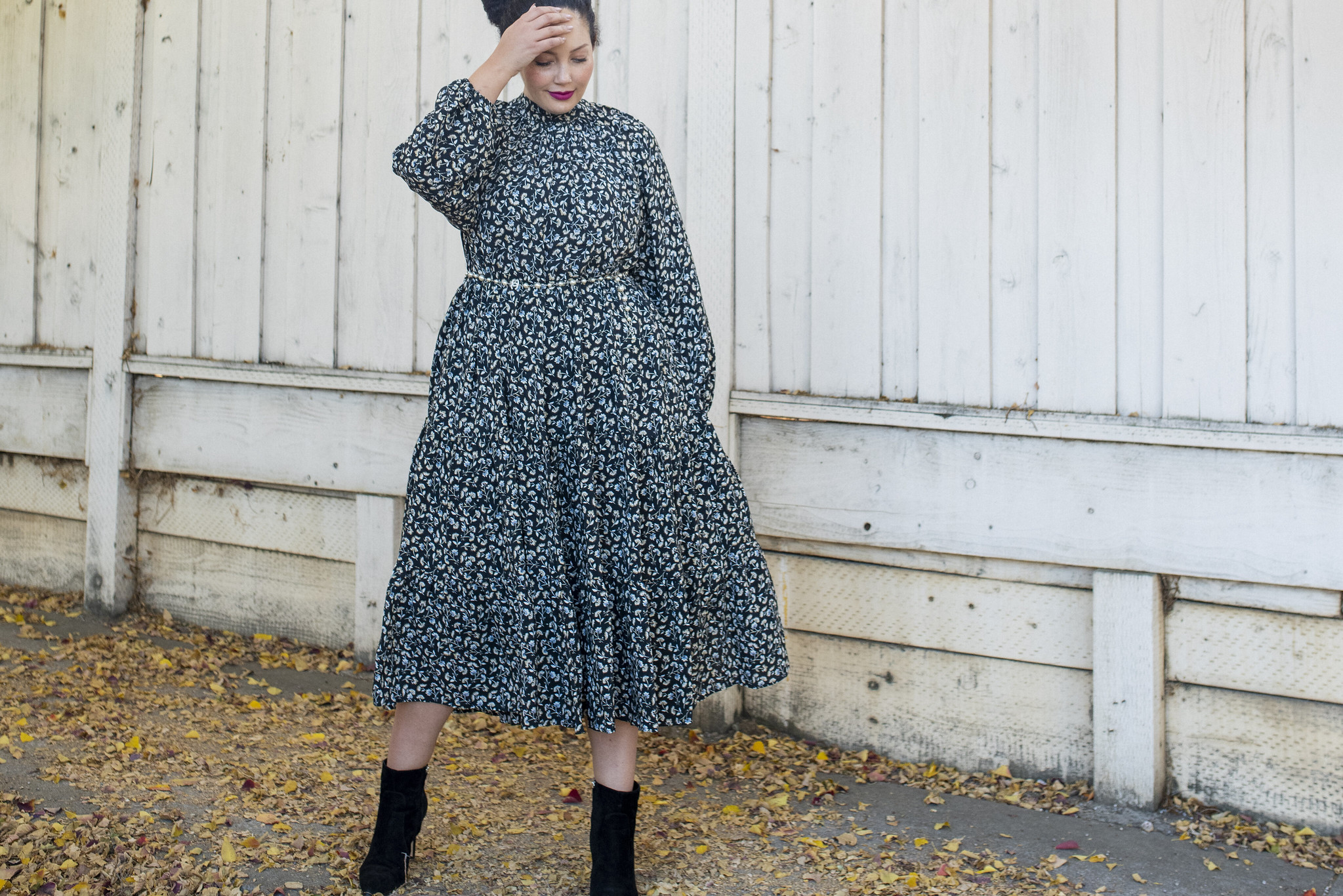 The Floral Dress of my Dreams via Girl With Curvees #plussize #zara #dress